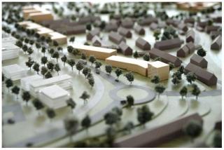 Modell Studentenwohnheim auf dem Petrisberg, »The Flag II«