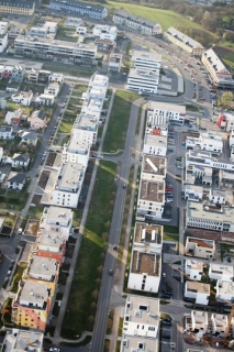 Luftbild Petrisberg Magistrale Ende März 2014