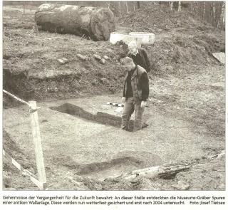 Foto von den Grabungen