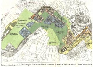 Übersichtsplan LGS mit Planungskonzept Petrisberg