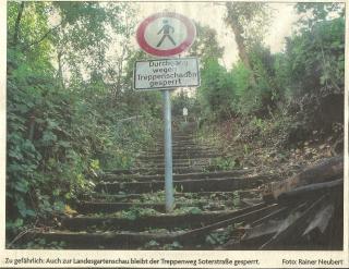 Treppenaufgang Soterstrasse