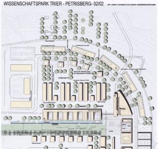 Städtebaulicher Entwurf Wissenschaftspark (Ausschnitt) 02/2002