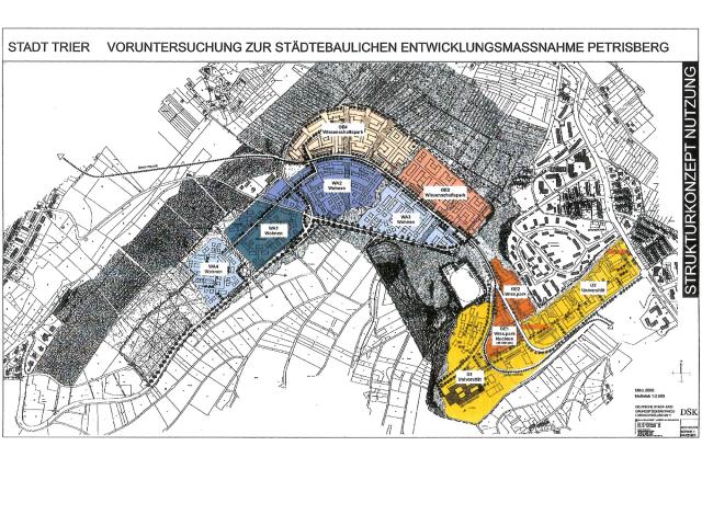Städtebauliche Entwicklungsmaßnahme Petrisberg - Strukturkonzept 2000 / März